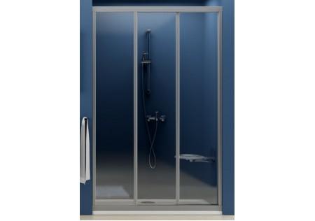 Душевая дверь раздвижная ASDP3 90 белая/Grape