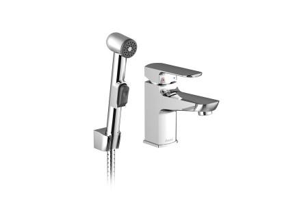 Смеситель для умывальника Ravak с гигиеническим душем BM 011.00