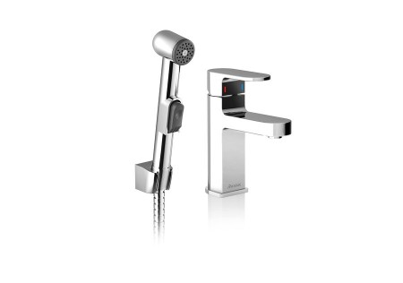 Смеситель для умывальника Ravak с гигиеническим душем CR 112.00